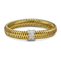 Roberto_Coin_18K_Yellow_and_White_Gold_Primavera_Diamond_X_Bangle_Bracelet