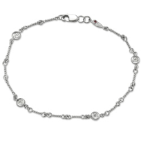 Roberto_Coin_18K_White_Gold_Diamond_Station_Bracelet,_7""