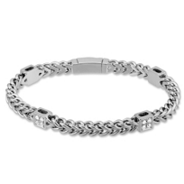 14K_White_Gold_Diamond_Square_Station_Bracelet,_7.25""