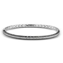 14K_White_Gold_Black_and_White_Diamond_Bangle_Bracelet