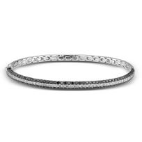 14K_White_Gold_Black_and_White_Diamond_Bangle_Bracelet