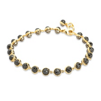 18K_Yellow_Gold_Black_and_Brown_Diamond_Bracelet