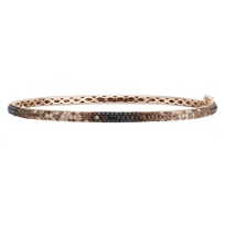 18K_Rose_Gold_White,_Brown_&_Black_Diamond_Bangle_Bracelet