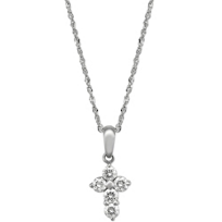 18K_White_Gold_Petite_Diamond_Cross_Pendant,_0.05cttw