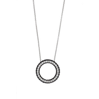 14K_White_Gold_Black_and_White_Diamond_Circle_Pendant