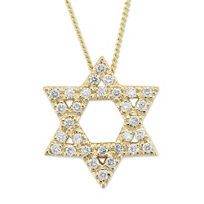 18K_Yellow_Gold_Diamond_Star_of_David_Pendant,_0.36cttw