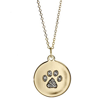 14K_Yellow_Gold_Diamond_Paw_Print_Disc_Pendant,_0.07cttw
