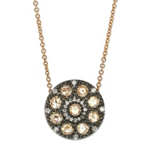 18K_Rose_Gold_Brown_and_White_Diamond_Circle_Pendant