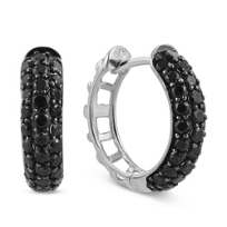 14K_White_Gold_Black_Diamond_Hoop_Earrings