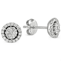14K_White_Gold_Round_Diamond_Cluster_With_Diamond_Halo_Earrings,_0.50cttw