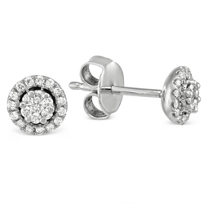 14K_White_Gold_Round_Diamond_Cluster_With_Diamond_Halo_Earrings,_0.25cttw
