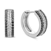 18K_White_Gold_Black_and_White_Diamond_Hoop_Earrings