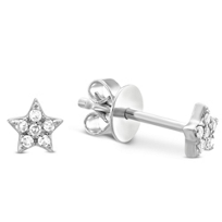 14K_White_Gold_Child's_Diamond_Star_Earrings