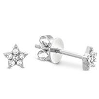 14K_White_Gold_Child's_Diamond_Star_Earrings