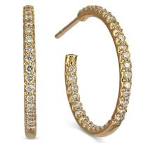 Roberto_Coin_18K_Rose_Gold_Small_Diamond_Hoop_Earrings