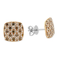 18K_Rose_Gold_Round_Brown_and_White_Diamond_Square_Earrings