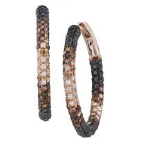 18K_Rose_Gold_Round_White,_Brown_and_Black_Diamond_Hoop_Earrings