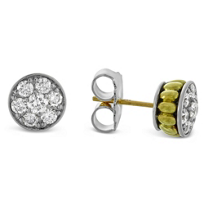 Lagos_Sterling_Silver_&_18K_Yellow_Gold_Diamonds_&_Caviar_Stud_Earrings,_1.00cttw