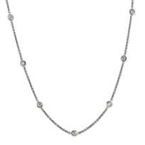 Roberto_Coin_18K_White_Gold_Diamond_Bezel_Set_Station_Necklace,_16""