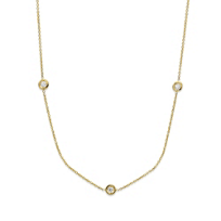 Roberto_Coin_18K_Yellow_Gold_Diamond_Station_Necklace,_16""