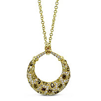 Brown and White Diamond Necklace