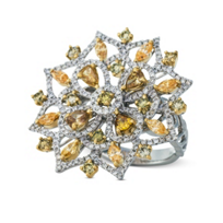 18K_Yellow_and_White_Gold_Yellow_and_White_Diamond_Flower_Ring