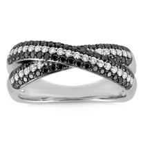 18K_White_Gold_Black_and_White_Diamond_Crisscross_Ring