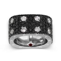Roberto_Coin_18K_White_Gold_Double_Row_Black_&_White_Diamond_Pois_Moi_Ring