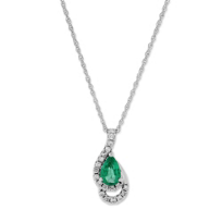 14K_White_Gold_Pear_Shape_Emerald_and_Round_Diamond_Pendant