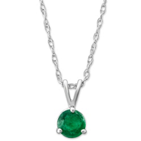 14K_White_Gold_Round_Emerald_Solitaire_Pendant,_5mm
