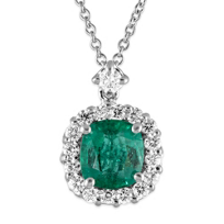 18K_White_Gold_Cushion_Emerald_and_Diamond_Pendant