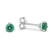 14K_White_Gold_Round_Emerald_Stud_Earrings,_4mm