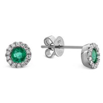 14K_White_Gold_Round_Emerald_and_Round_Diamond_Halo_Earrings