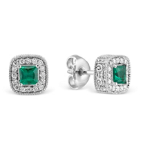 Christopher_Designs_18K_White_Gold_Cushion_Emerald_and_Round_Diamond_Earrings