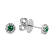 14K_White_Gold_Emerald_and_Diamond_Halo_Earrings
