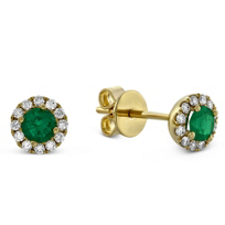 14K_Yellow_Gold_Emerald_and_Round_Diamond_Halo_Earrings