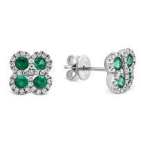 14K_White_Gold_Emerald_and_Round_Diamond_Earrings