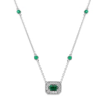 Christopher_Designs_18K_White_Gold_Emerald_Cut_Emerald,_Round_Emerald_and_Round_Diamond_Necklace