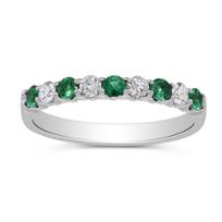 14K_White_Gold_Round_Emerald_and_Diamond_Ring