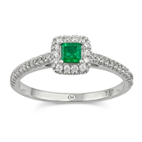 Christopher_Designs_18K_White_Gold_Princess_Emerald_and_Round_Diamond_Ring