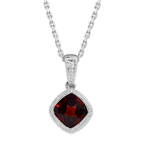 14K_White_Gold_Cushion_Checkerboard_Garnet_Bezel_Set_Pendant