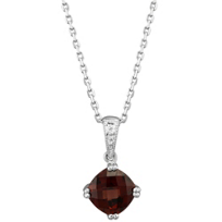 14K_White_Gold_Cushion_Checkerboard_Garnet_Solitaire_Pendant