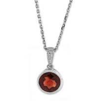 14K_White_Gold_Round_Garnet_Bezel_Set_Pendant,_7mm