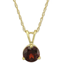14K_Yellow_Gold_Round_Garnet_Pendant,_6mm