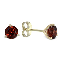 14K_Yellow_Gold_ROund_Garnet_Stud_Earrings,_5mm