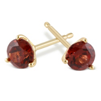 14K_Yellow_Gold_Round_Garnet_Stud_Earrings,_4mm