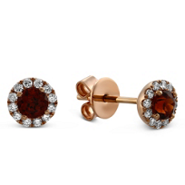 14K_Rose_Gold_Garnet_and_Round_Diamond_Halo_Earrings