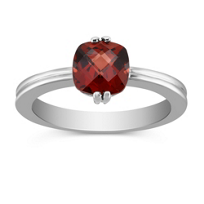 14K_White_Gold_Checkerboard_Faceted_Garnet_Ring
