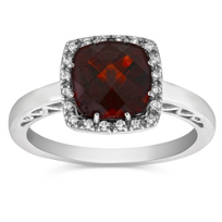 14K_White_Gold_Checkerboard_Cushion_Garnet_and_Diamond_Ring