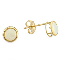 14K_Yellow_Gold_Opal_Bezel_Set_Earrings